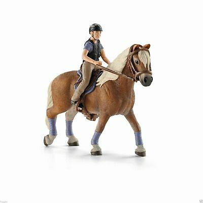 NEW SCHLEICH Leisure Rider and Brown Horse Farm Life Riding Set 42113