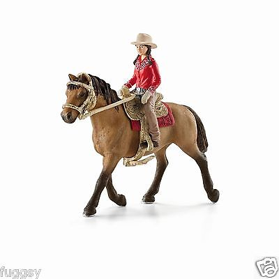 NEW SCHLEICH  Western Rider and Brown Horse Farm Life Riding Set 42112