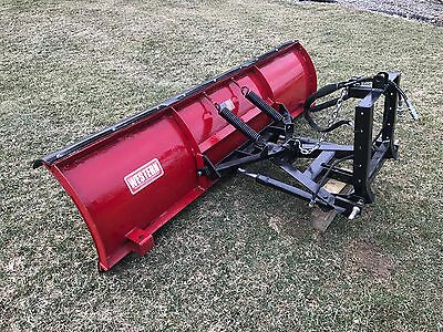 Tractor Snow Plow Hydraulic Power Angle --  7 - 1/2 ' Wide  EXCELLENT CONDITION!