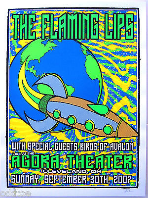 THE FLAMING LIPS Original S/N 2007 Concert Poster by Lindsey Kuhn - Cleveland OH