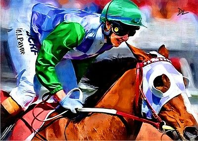 Michelle Payne Melbourne Cup Sketch Card *Artist Signed* Rare Serial 2/5