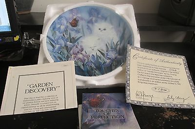 1st Issue in Petal Pals Garden Discovery Persian Cat Lily Chang Collector Plate
