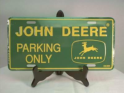 "John Deere Green License Plate ""Parking Only"""