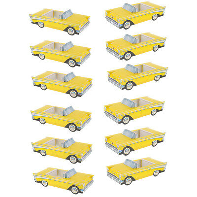 Classic Cruisers 12 Pack 57 Chevy Antique Car Carton Party Favors