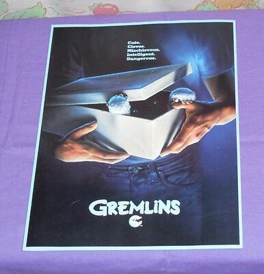 original GREMLINS movie program