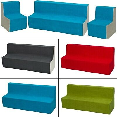 Soft Foam Furniture Set: 2xChair+Sofa for Kids, Children, Comfy, Relax,Play