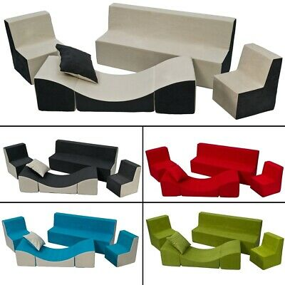 Soft Foam Furniture Set: 2xChair+Sofa+Coach for Kids, Children,Comfy, Relax,Play