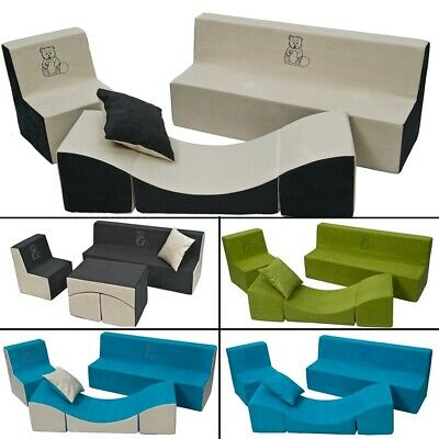 Soft Foam Furniture Embroidery Set:Chair+Sofa+Coach for Children Comfy,Relax