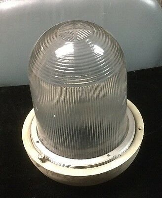 Vintage Industrial Crouse Hinds Street Light Globe Ceiling Lamp Explosion Proof