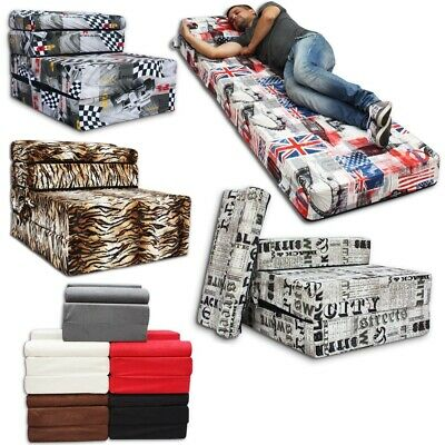 Z Bed Fold out Foam Chair, Sofa Sleep Over, mattress