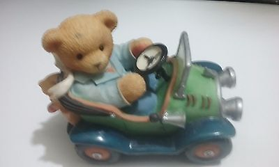 1999 Enesco Cherished Teddies Dave Oldy but Goodie Classic Car Figurine