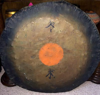 LARGE Antique Chinese Qing Dynasty Temple Gong Boxer Rebellion Veteran Estate