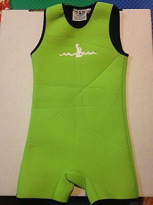 Warm Belly Baby Swimsuits GREEN Size S 100% NEOPRENE MADE IN U.S.A.