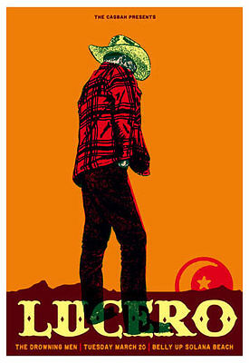 Scrojo Lucero Drowning Men Belly Up Tavern Solana Beach 2012 Poster Lucero_1203