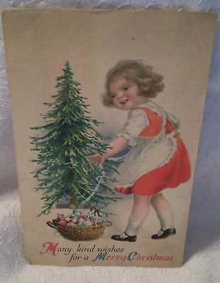 Vintage Antique Christmas Card Wolf & Co USA