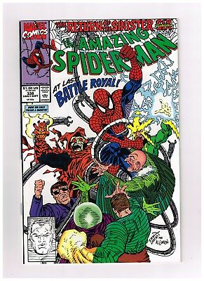 1990 The Amazing Spider-Man Death From Above Sep #338 Marvel Comic Bag Board NM
