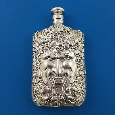 Tiffany & Co Sterling Silver 6oz Bacchus Large Flask Liquor