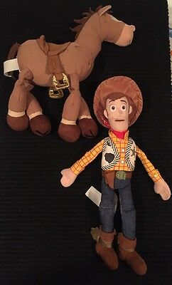 Disney/pixar Toy Story 2 Plush Woody & Bullseye!!!  Authentic, With Tags!!!