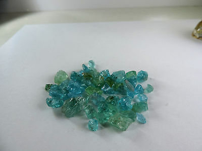 100+ Carats Blue Apatite Rough Natural Crystal Gem Quality Mineral.Really Nice