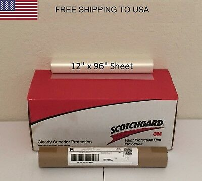 "3M Scotchgard PRO Series Paint Protection Film Clear Bra 12"" x 96"" Sheet"
