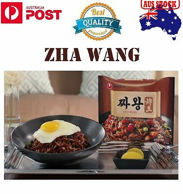 4, 8 Pack Korean Nongshim Zha Wang Noodles With Roasted Blackbean Sauce