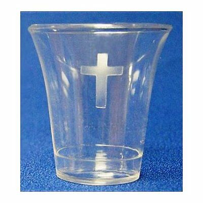 BRAND NEW -COMMUNION PLASTIC CUPS With CROSS BOX OF 1000
