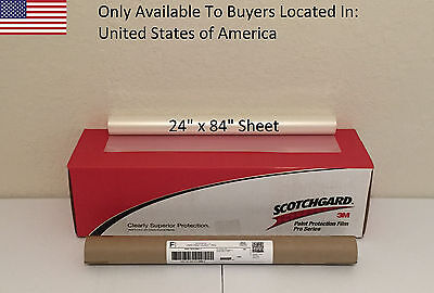 "3M Scotchgard PRO Series Paint Protection Film Clear Bra 24"" x 84"" Sheet"