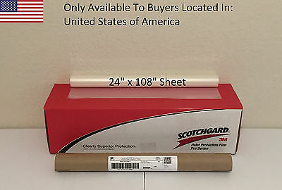 "3M Scotchgard PRO Series Paint Protection Film Clear Bra 24"" x 108"" Sheet"