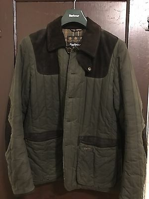 997cf8f89cbec Barbour Tokito Waxed Quilted Sporting Jacket - Olive Green, Size L - Worn 5x