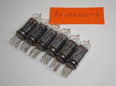 IN-14 IN14 6PCS Nixie TUBE, solderd but UNUSED, Excellent condition, NIXIE CLOCK