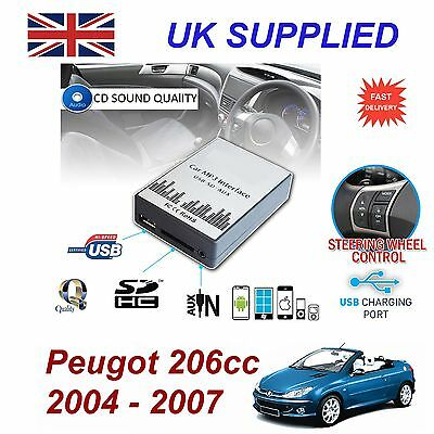 Peugeot 206cc MP3 SD USB CD AUX Input Audio Adapter Digital CD Changer ModuleRD3
