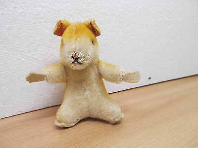 MES-33847	Steiff Hamster mit Knopf H:ca.10,5cm,Mohair mit Holzwollstopfung,