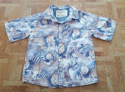 Baby Boy Safari Animal Print Short Sleeved Shirt From Next 18 - 24 Months