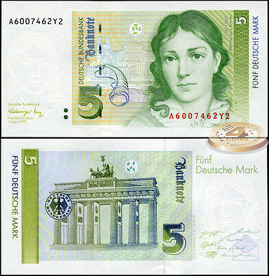 West Germany. 5 mark (Unc) 1991. Banknote Cat# Rb.296a