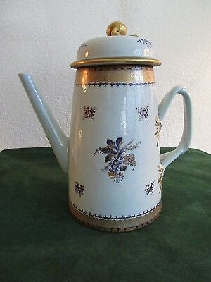 Antique 18th Century Chinese Export Porcelain Lighthouse Coffee Pot