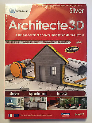 Architecte 3D Silver LOGICIEL PC NEUF SOUS BLISTER Windows XP / Vista / 7 / 8