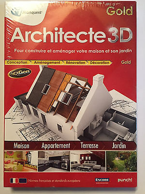 Architecte 3D Gold LOGICIEL PC NEUF SOUS BLISTER Windows XP / Vista / 7 / 8