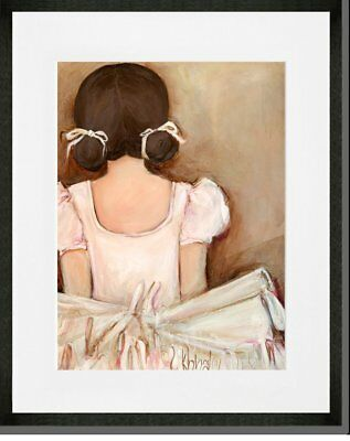 Oopsy Daisy 'Lovely Ballerina Brunette' Framed Wall Art