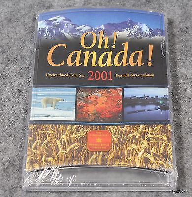 2001 Oh! Canada! Uncirculated Coin Set Royal Canadian Mint Sealed