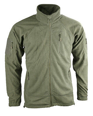 Kombat Delta Green Tactical Grid Fleece Jumper Top Thermal Layer Airsoft Army