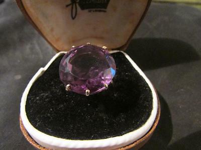 Stunning Art Deco Quality 9ct Gold & 10ct Amethyst Cocktail Ring