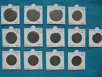 Old Vintage Lot Of Australian Coins. All Original, Old & Rare! Superb Lot!!!