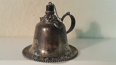 Sterling silver whale oil finger lamp by Foster & Bailey 43g.