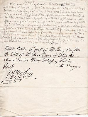 300 year old Will Clause dated 30 June 1716.