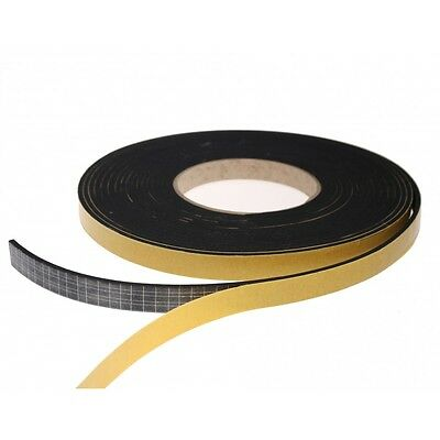 EPDM Rubber Self Adhesive Foam Sealing Tape Strip Draught Excluder 10meter roll