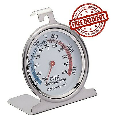 "Cooking Oven Thermometer Stainless Steel Baking Temperature Control 2.5""x3"" NEW"