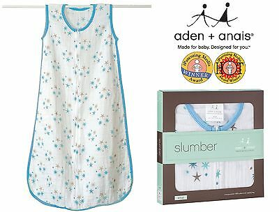 Summer Sleeping Bags (Blue Stars) - Aden and Anais Top Quality Muslin