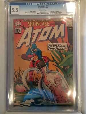 Showcase #34 CGC 5.5 First Appearance Silver Age Atom 1st DC Comics KEY