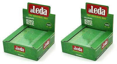 aLeda King Size clear Cellulose paper from Brazil - 1 box = 40 booklets