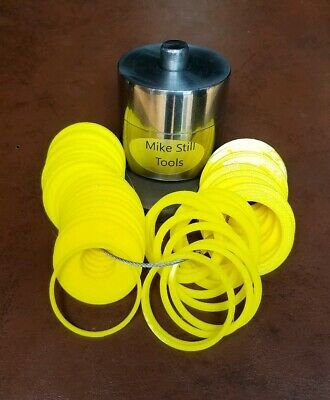 """New Coin Ring Center Punch That Will Punch A 7/16"""" Hole & 41 Plastic Spacers"""